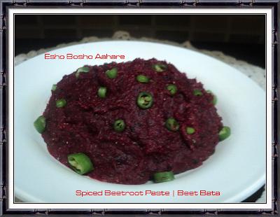 Spiced Beetroot Paste Beet Bata | Thakur Barir Ranna | Bengali Recipe