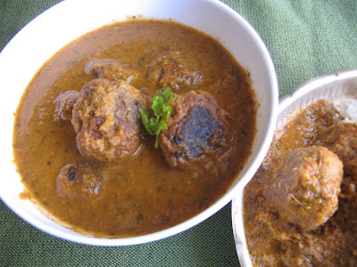 FISH KOFTAS IN CORIANDER CURRY