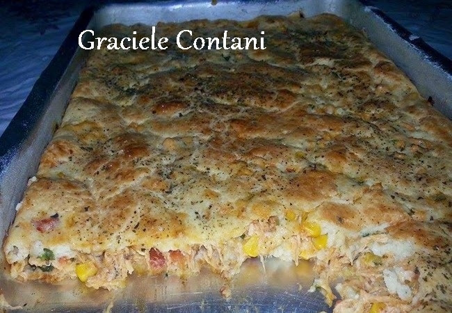 Torta cremosa de frango, de Graciele Contani