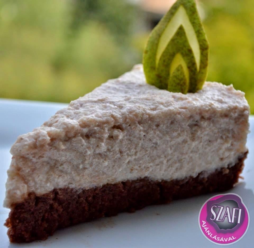 Sütés nélküli körtekrémes torta (szénhidrátszegény, kalóriaszegény)