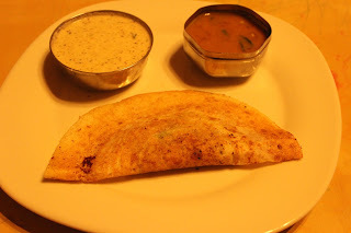 Masala Dosa with Tiffin Sambar & Coconut Chutney