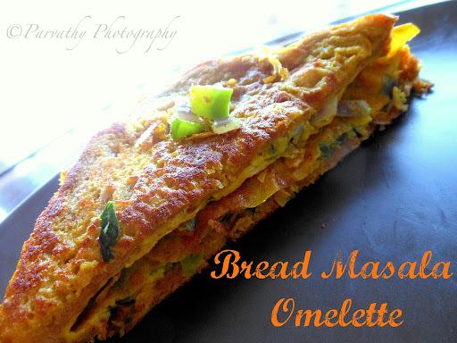 Bread Masala Omelette - Fast Food Style Bread Omelette