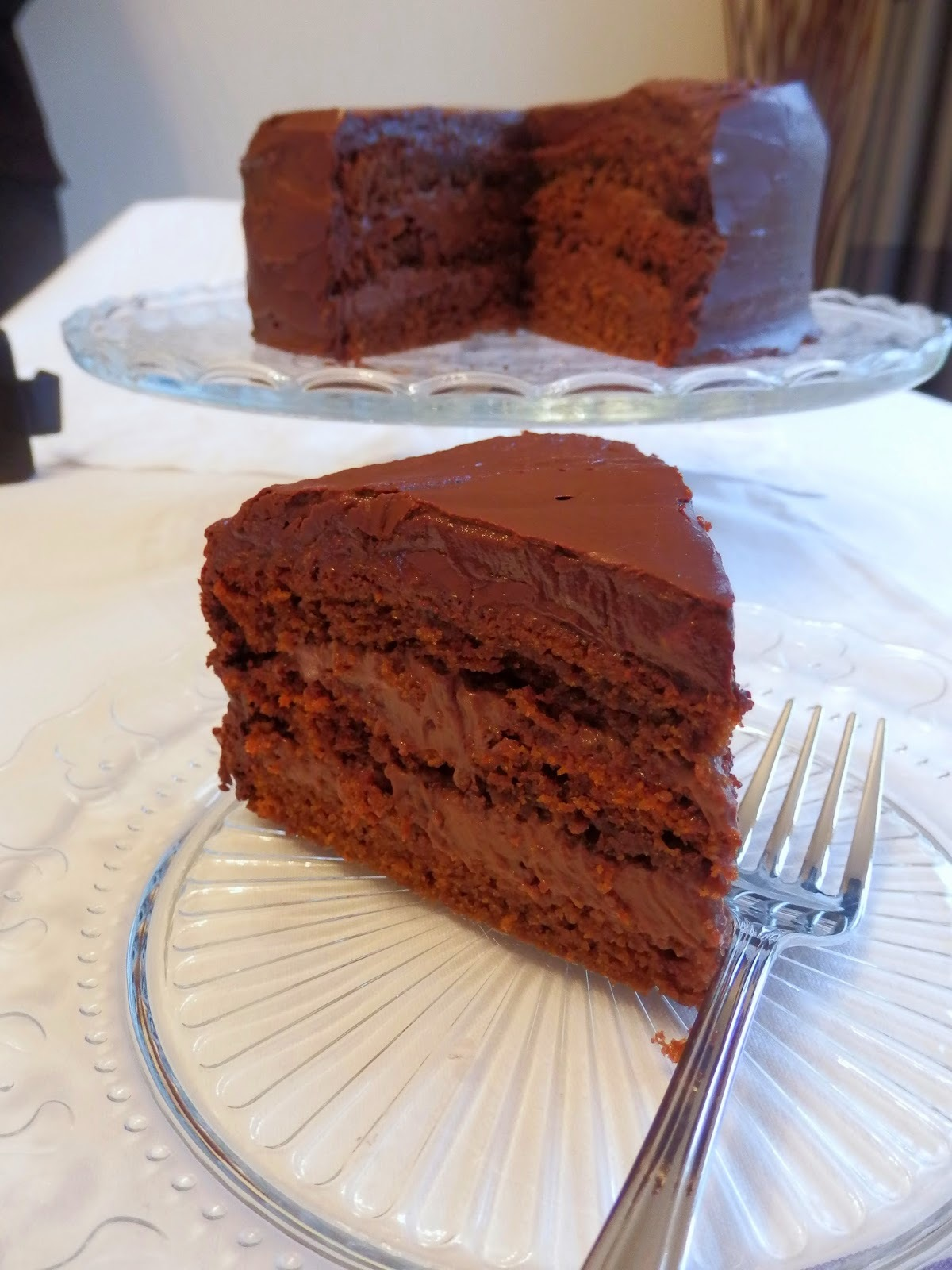 Deeply Chocolate Layer Cake