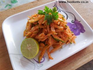 Healthy Raw Papay Salad Recipe-5 Minutes Recipe-Indian Gujarati Food
