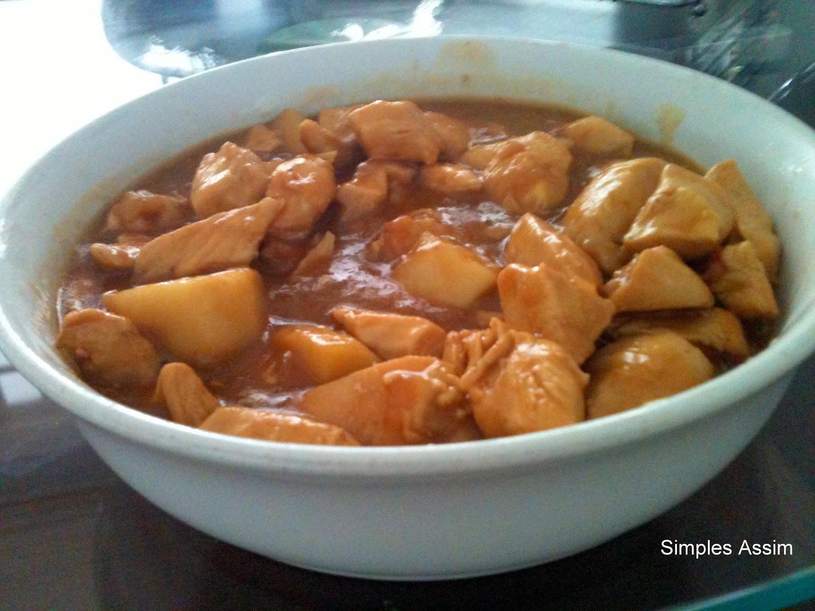 Mais um frango Simples Assim - Frango com rôti e maçã