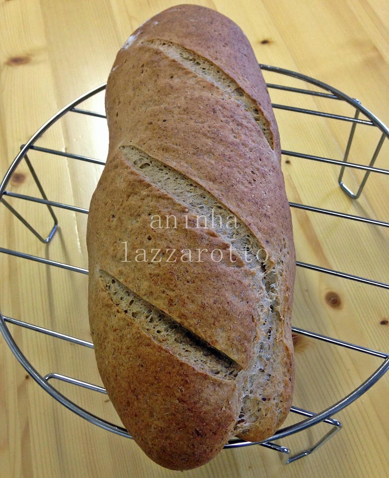 Pão de Linhaça e Mel