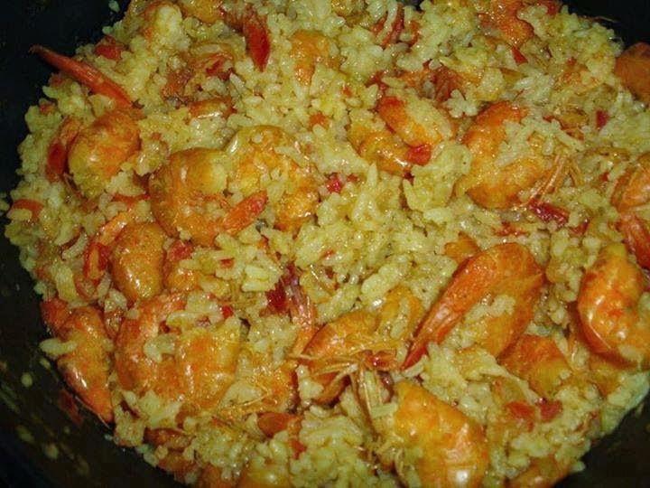 risoto de camarão com arroz agulhinha