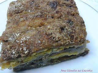 de torta de banana com farinha seca