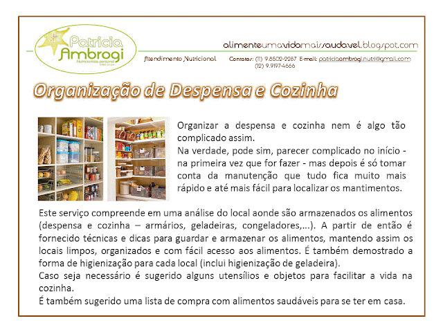 PESSOAL  >  Organização de Despensa e Cozinha