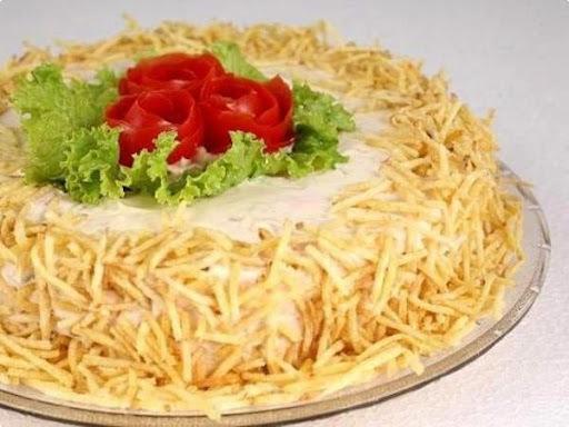 Salada de Peru Defumado ao Alho