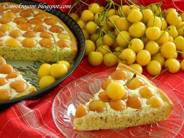 čerešňový koláč s tvarohom