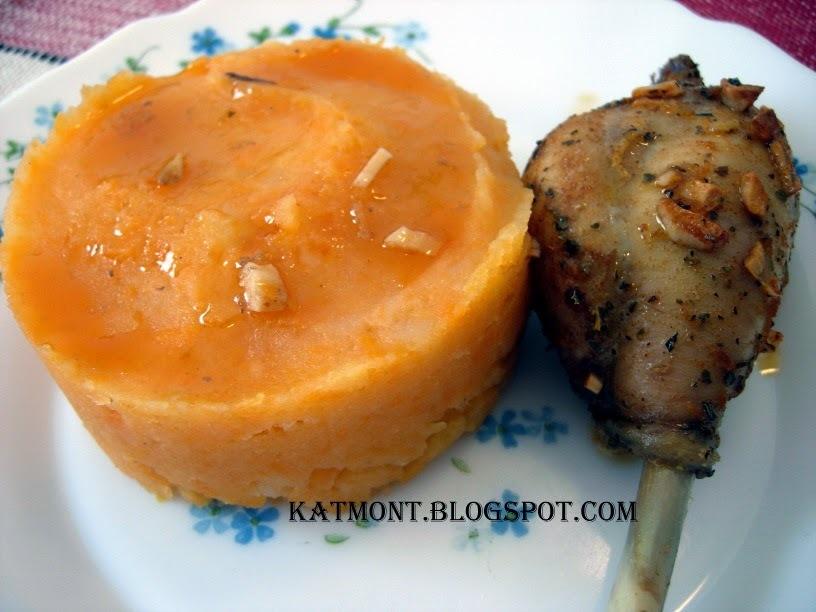 Purê de batata doce - Purée de patate douce