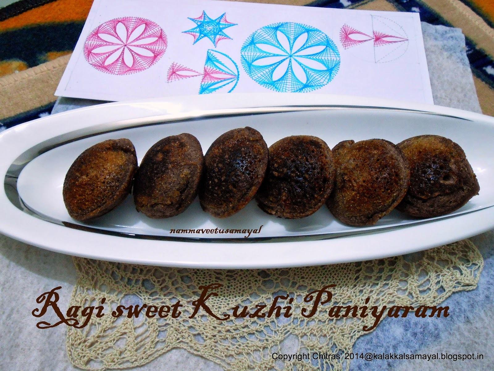 Ragi-Sweet-Kuzhi-Paniyaram