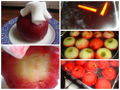 Manzanas al Vino Tinto