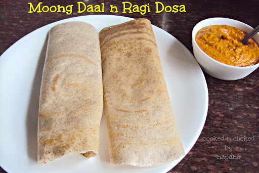 Moong Daal - N - Ragi Dosa ( For World Diabetes Day )