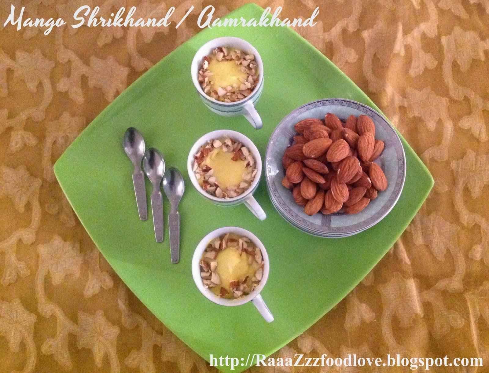 Mango Shrikhand / Aamrakhand