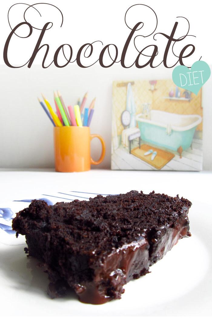 {cozinha para preguiçosas} Bolo de chocolate sem açúcar