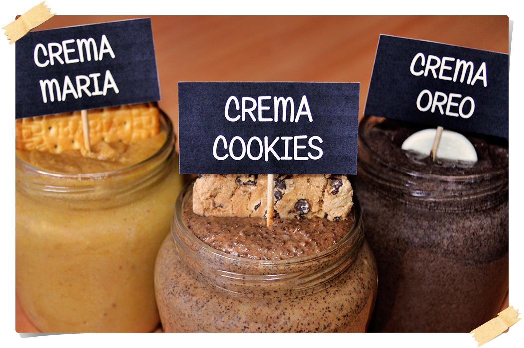 Cremas de untar de Oreo, Cookies, Galletas María o la galleta que más os guste!