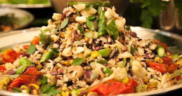 Salada de Grãos com Bacalhau