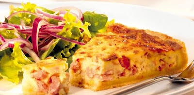 Quiche Lorraine com Salada