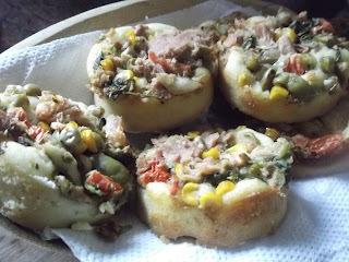 torta de pão integral com atum