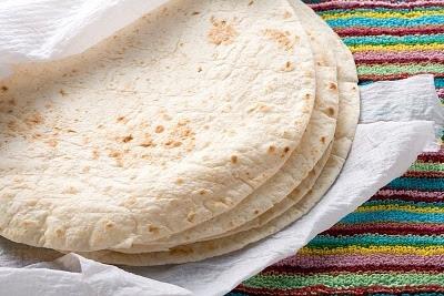 Tortilla mexicana de trigo