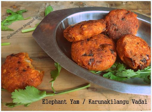 Elephant yam / Senai / Karunai kilangu Vadai