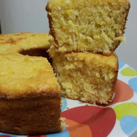 bolo de farinha de milho pré cozida
