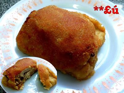 coxa sobre coxa na panela frita
