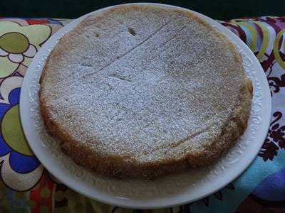Receita de torta rápida de amêndoa
