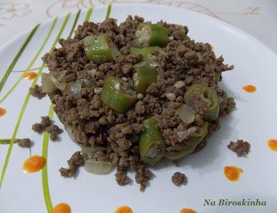 Carne Moída com Quiabo