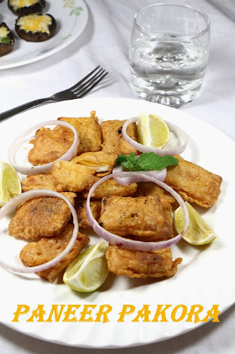 snacks with paneer cubes