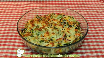 Receta fácil de verduras gratinadas con queso