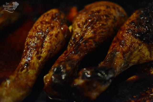 Jamoncitos de pollo al curry, miel y limón.