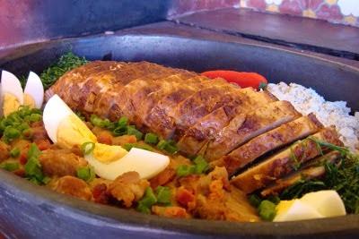 farofa fria com bacon para acompanhar lombo assado