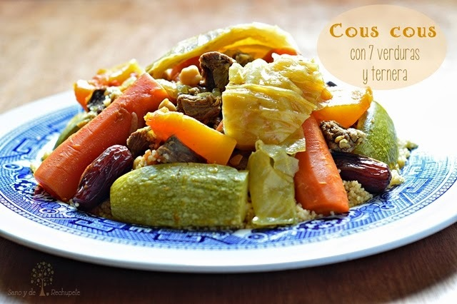 Cous cous de 7 verduras y ternera