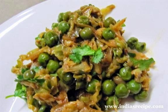 Cabbage - Green Peas Vegetable(Gobi Matar)