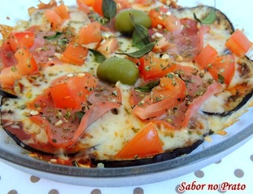 Pizza de Berinjela (berinjela na base da pizza)
