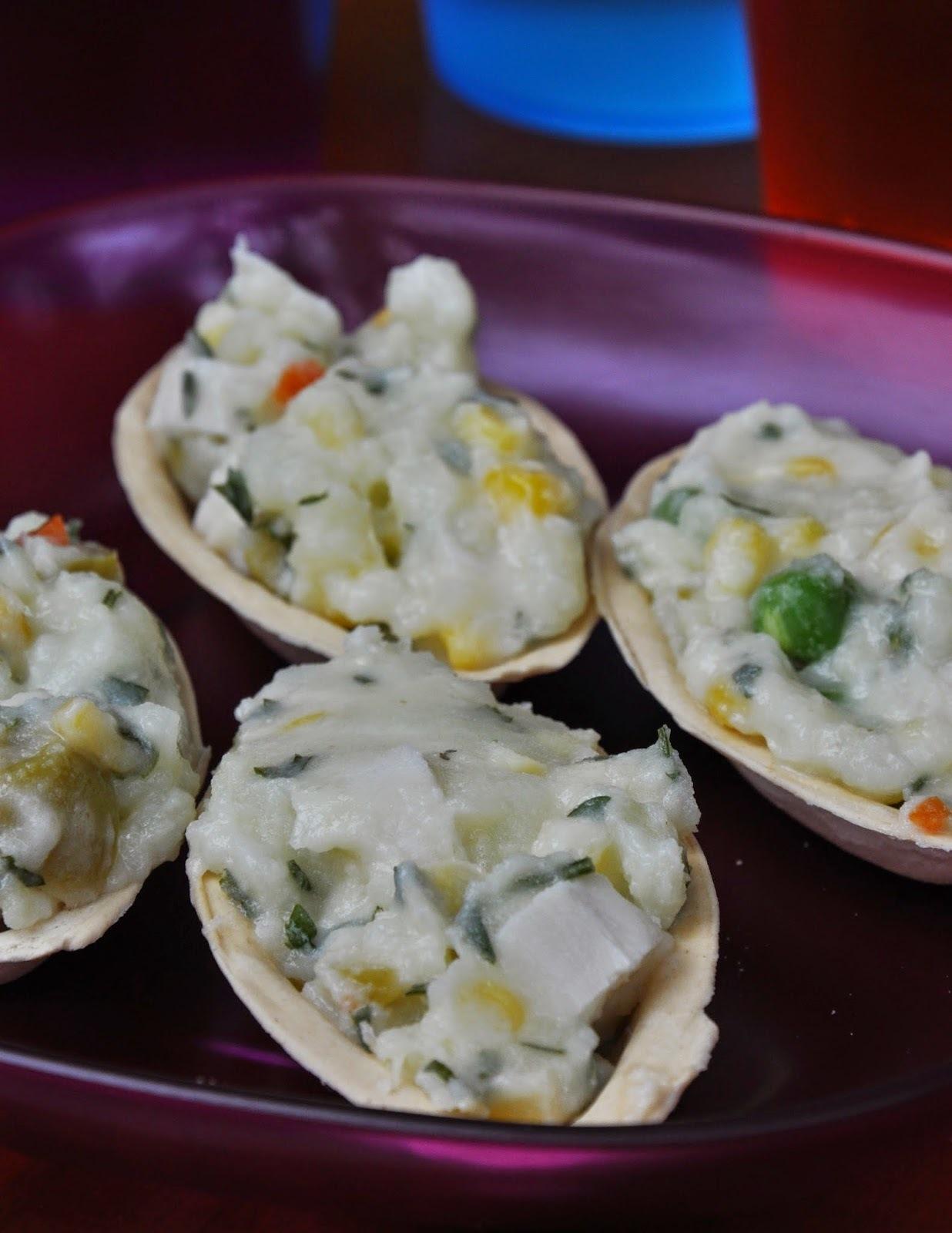 Barquetes de maionese (vegan)