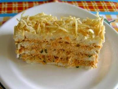 torta salgada fria de pao de forma