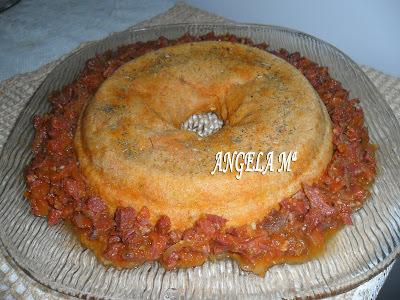 Ragu de carne seca PANEIRA com pudim de abóbora