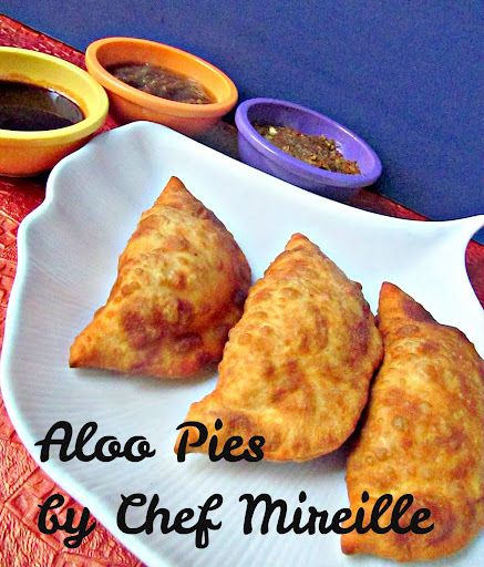 Aloo Pies with Homemade Kuchela
