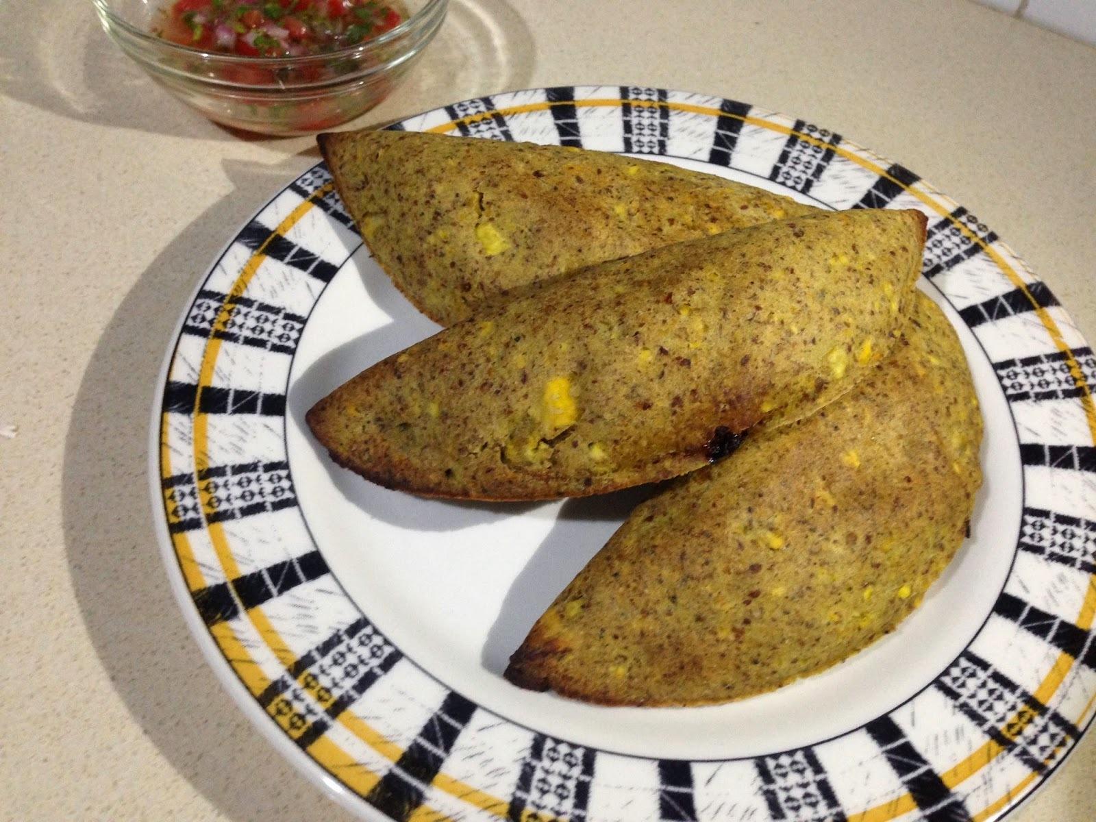 Empanadas de plátano, avena y linaza