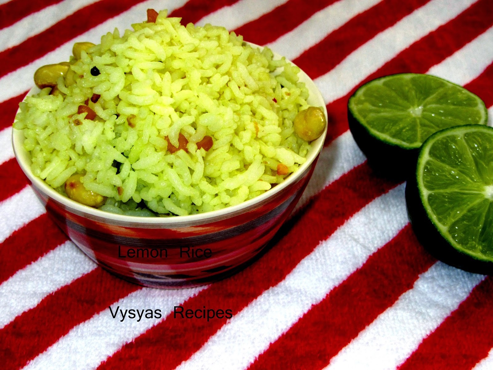 Lemon Rice  Recipe - Nimmakaya pulihora - Chitranna