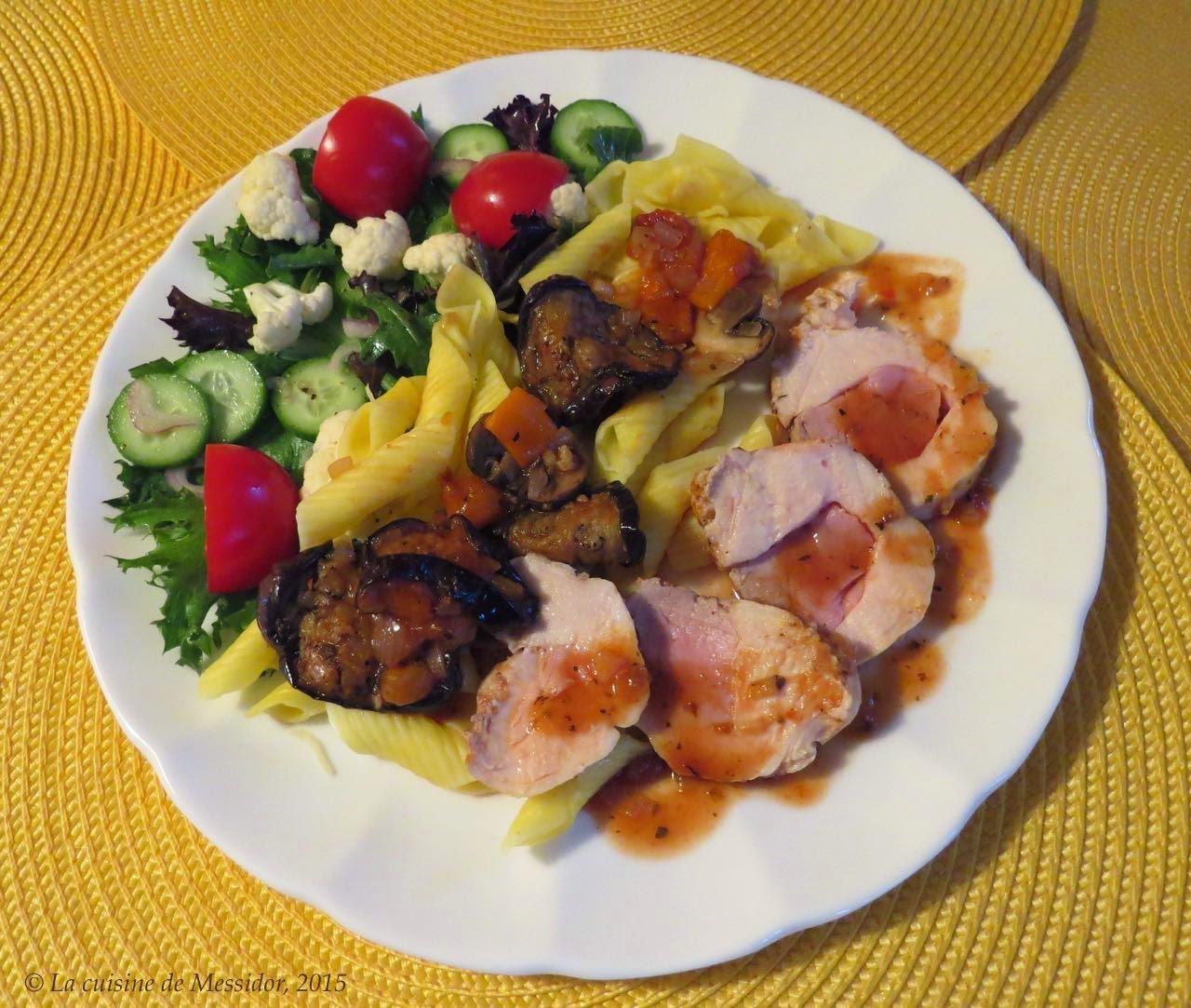 Coq au porc à l'italienne