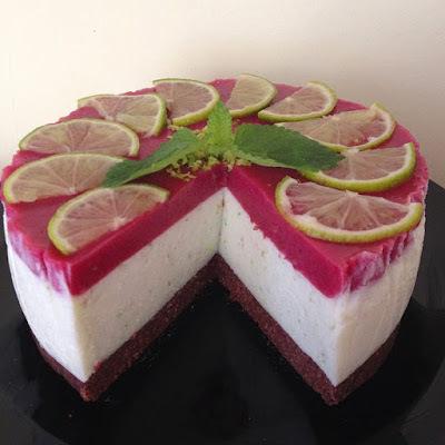 Sütés nélküli lime-os torta (paleo)