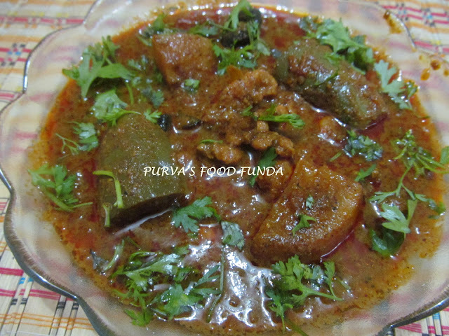 Maharastrian Prawns Curry With Brinjal & Potato (Kolambch kalwan)