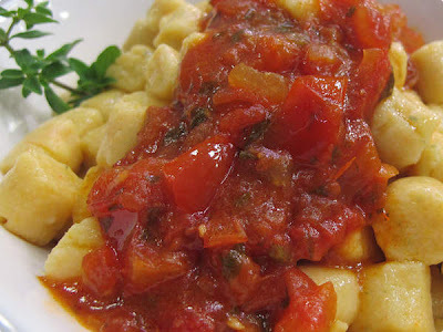 nhoque de batata com maionese
