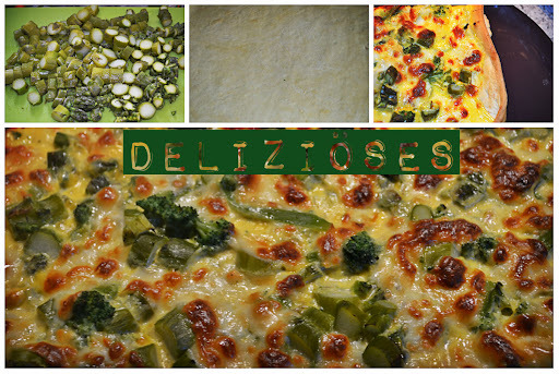 Spargel - Broccoli - Sauce Hollandaise { Pizza }