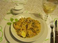 ravioles de acelga y pollo